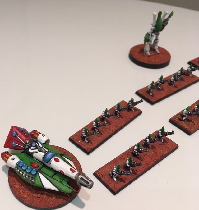 Epic 40k – Eldar Biel Tan Guardians and a Deathstalker